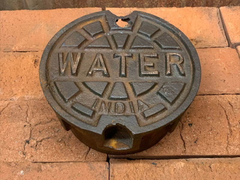 Vintage Cast Iron Water sewer Meter  cover