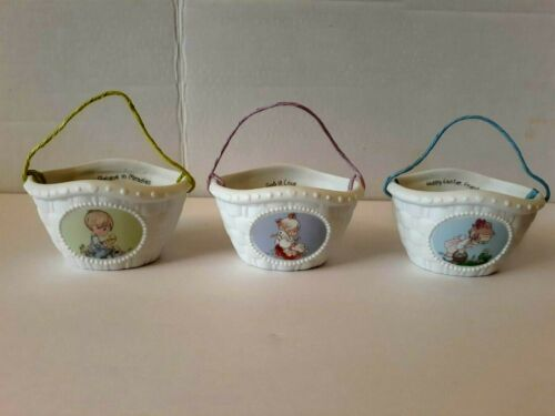 Precious Moments Enesco 3 Baskets with  Handles  #18182, 18181, 18180 New