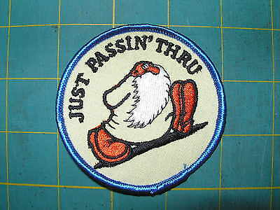 "From 1970's but new COOL Vintage Patch ""Just passin' Thru""'"