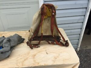 VERY OLD CANVAS BACKPACK