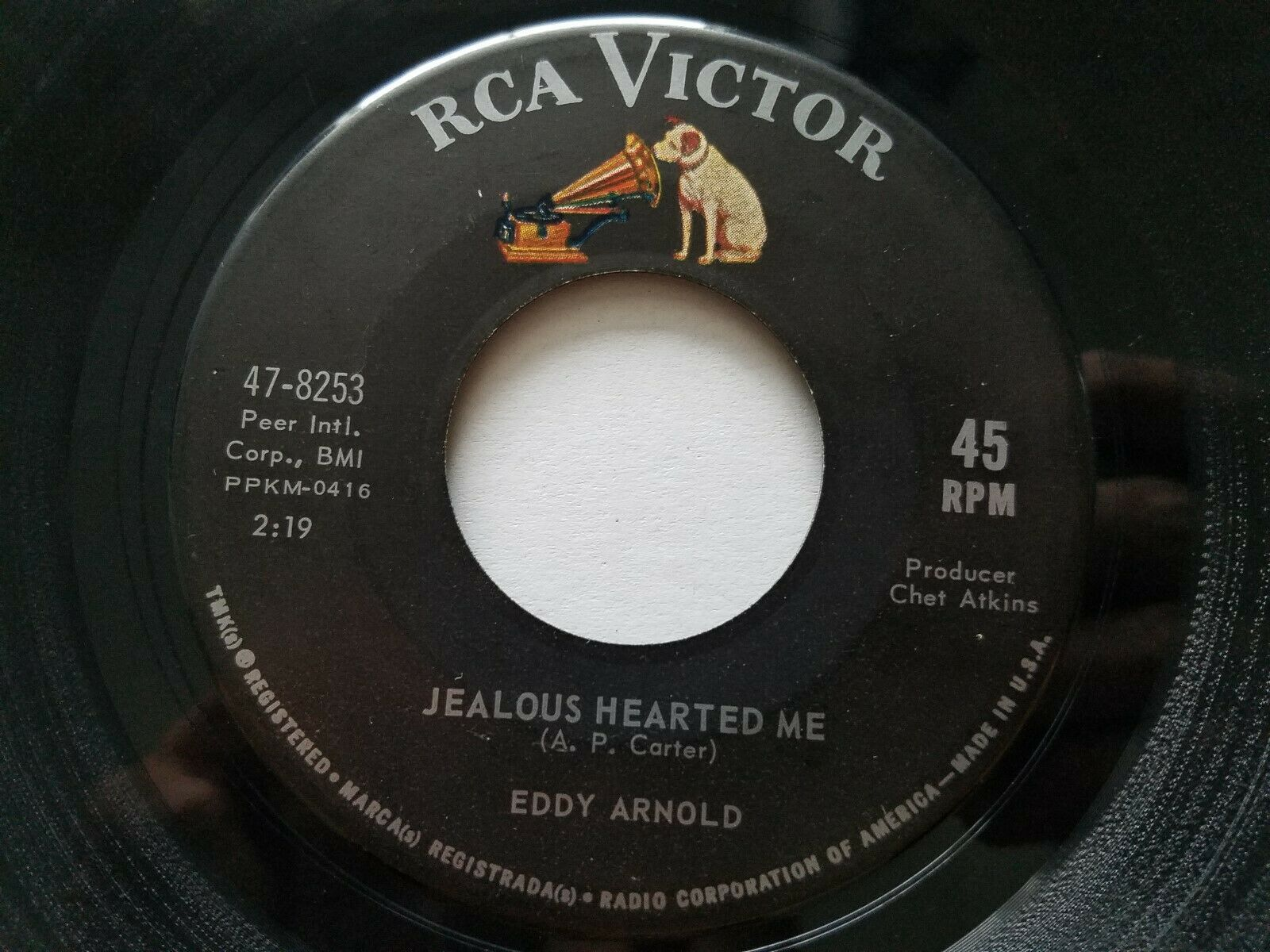 """EDDY ARNOLD - Jealous Hearted Me / I Met Her Today 1963 COUNTRY 7"""" RCA Victor"""