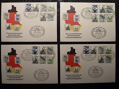 BERLIN ZUSAMMENDRUCKE W 89 / W 98 SCHMUCK-FDC TOP! Mi 680.- + + h1084