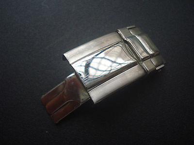 STEEL DAYTONA FLIP-LOCK CLASP FOR MENS ROLEX 20MM OYSTER WATCH BAND BRACELET