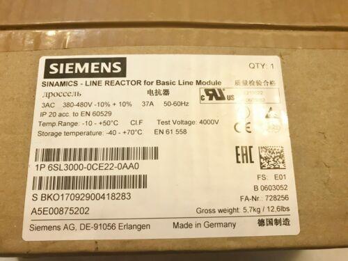 NEW SEALED SIEMENS 6SL3000-0CE22-0AA0 SINAMICS LINE REACTOR BEST PRICE USA SHIP