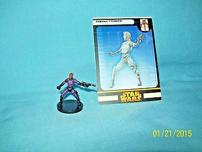 WotC Star Wars Miniatures Zabrak Fringer, RotS 55/60, Fringe, Common