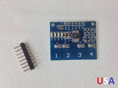 Ttp224 4-channel Capacitive Touch Sensor Module Button Switch Usa