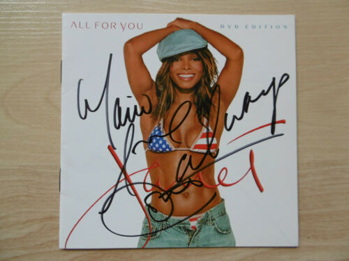 "Janet Jackson Autogramm signed CD Booklet ""All For You"""