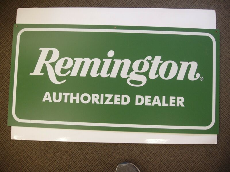 Vintage Remington Authorized Dealer two sided Plastic Store Display sign