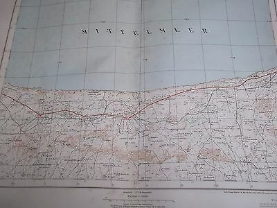 Militär Landkarte EZ-ZANIA Libyen von 1941