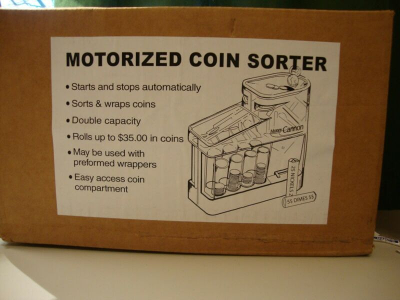 Money  Motorized Coin Sorter Bank Money Wrappers included