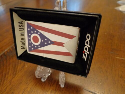 OHIO STATE FLAG SERIES ZIPPO LIGHTER MINT IN BOX