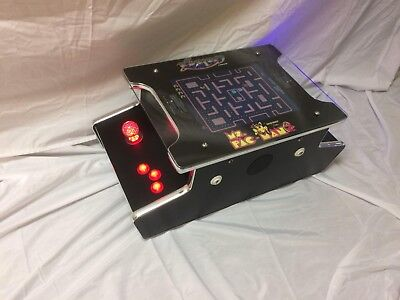 New Ms PacMan Galaga Mini Cocktail Table Arcade Game Multicade Bar Top 60 games