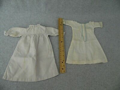 2 vintage antique Doll Dresses for 14