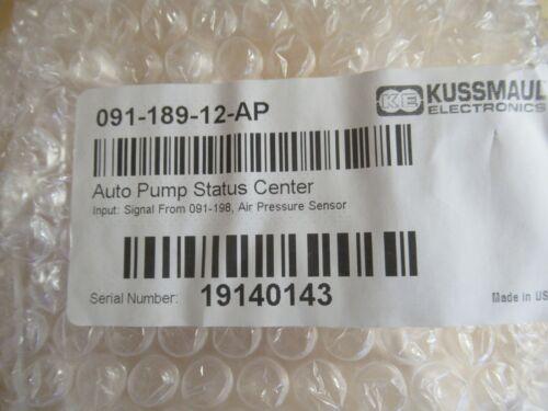 Kussmaul Auto Pump Status Center 091-189-12-AP and air pressure sensor 091-198