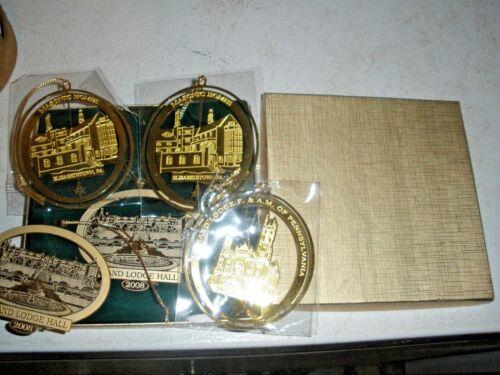 Lot of 5 Masonic Ornaments Elizabethtown & Philadelphia PA