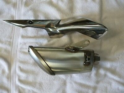 SUZUKI GSXS  AND  FA 2016 1000cc EXHAUST END CAN SILENCER AND HEAT SHIELD