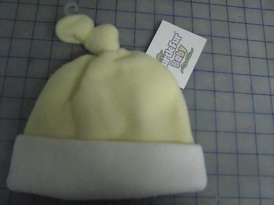 baby infant turtle fur fleece yellow white knot top hat beanie large xl Turtle Fur Fleece