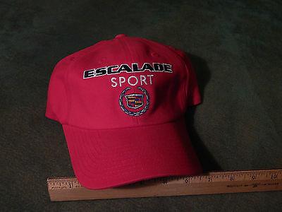 Cadillac Escalade Sport  Flexseam  Red W  Emblem  Checkered Flag Sports  Hat Cap