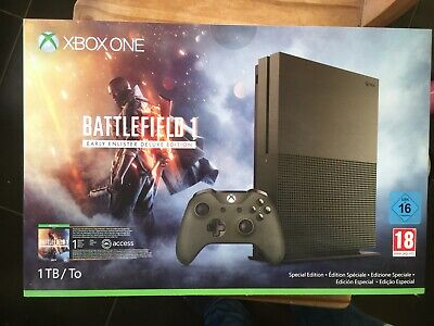 Microsoft Xbox One S Battlefield 1 Military Green Special Edition - NEUF...