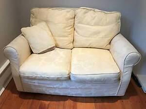 2 Seat Sofa - High Quality English Brand - Yellow with Cushion Mosman Mosman Area Preview