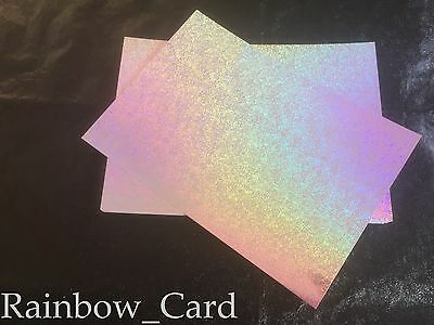 20 SHEETS - STARDUST SILVER RAINBOW HOLOGRAPHIC A4 CRAFTING CARD 290 GSM