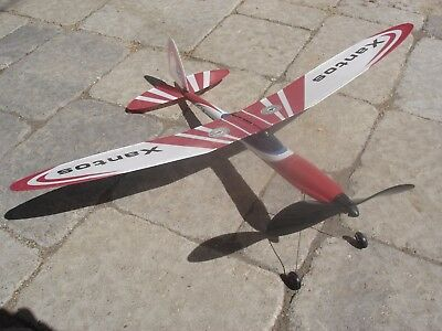 NIB Gunther Xantos rubberband powered airplane- Huge, superb flyer