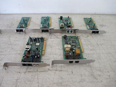 Lot of 6 - Legacy Intel/Lucent/Conexant 56k PCI Card Dial Up Desktop Modem