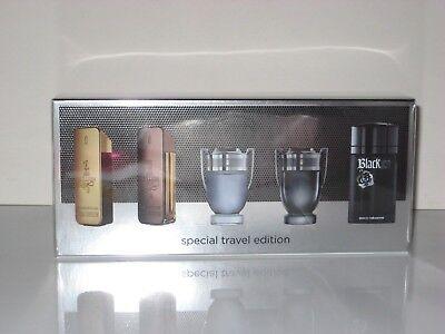 Paco Rabanne 1 ONE MILLION Men 5 Piece Mini Gift Set New In Box Travel Edition