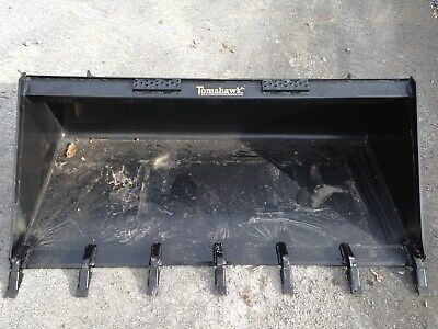 New 66 Skid Steertractor 5.5 Tooth Bucket - Fits Bobcat Case Cat Etc-teeth