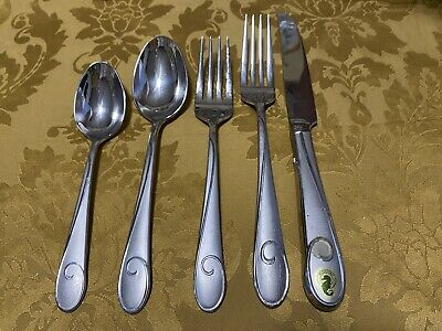 Waterford BALLET RIBBON 5 Piece Place Setting Stainless Flatware Matte New Matte 5 Piece Place Setting