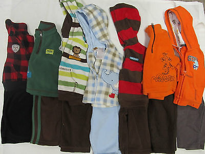 - Set of 6 Toddler 2-pc Outfit Pants & Top Vest Sweater Zip-up 0-3m 3-6m 6m