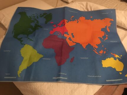 Pos large felt pen set miscellaneous goods gumtree australia world map felt material gumiabroncs Images