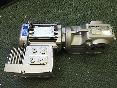 Sew-eurodrive Gear Motor W Brake Drs71m4mm05 0.75hp 200-1700rpm Ratio 28.83