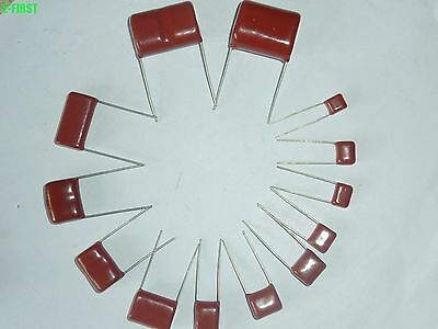 100v 0.01uf10uf Cbb Metal Film Capacitors Assortment Kit 12 Values 94pcs