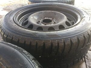 205 55 16 WINTER TIRES AND OEM BMW RIMS
