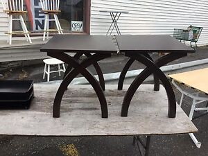 Pair of wooden side tables $40