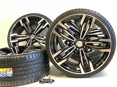 """20"""" INCH RIMS TIRES WHEELS FIT BMW M SERIES 3 4 5 PACKAGE BLACK SPORT STGD 5X120"""
