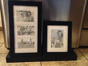 Floating wall shelf/2 picture frames