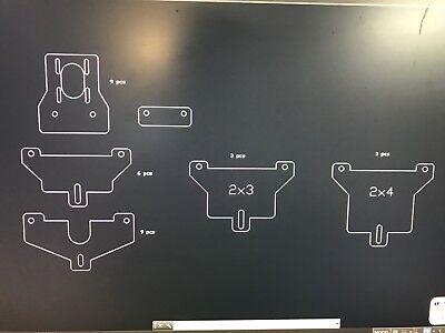 Cnc Plasma Table Gantry Drawings. Fits 2x2 2x3 2x4 Rails. Nema 23 34 Motors.