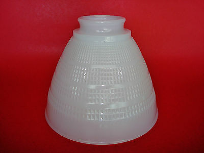"""Vintage Milk Glass Art-Deco Lamp Shade Globe Diffuser Torchiere 2 1/4"""" Fitter"""