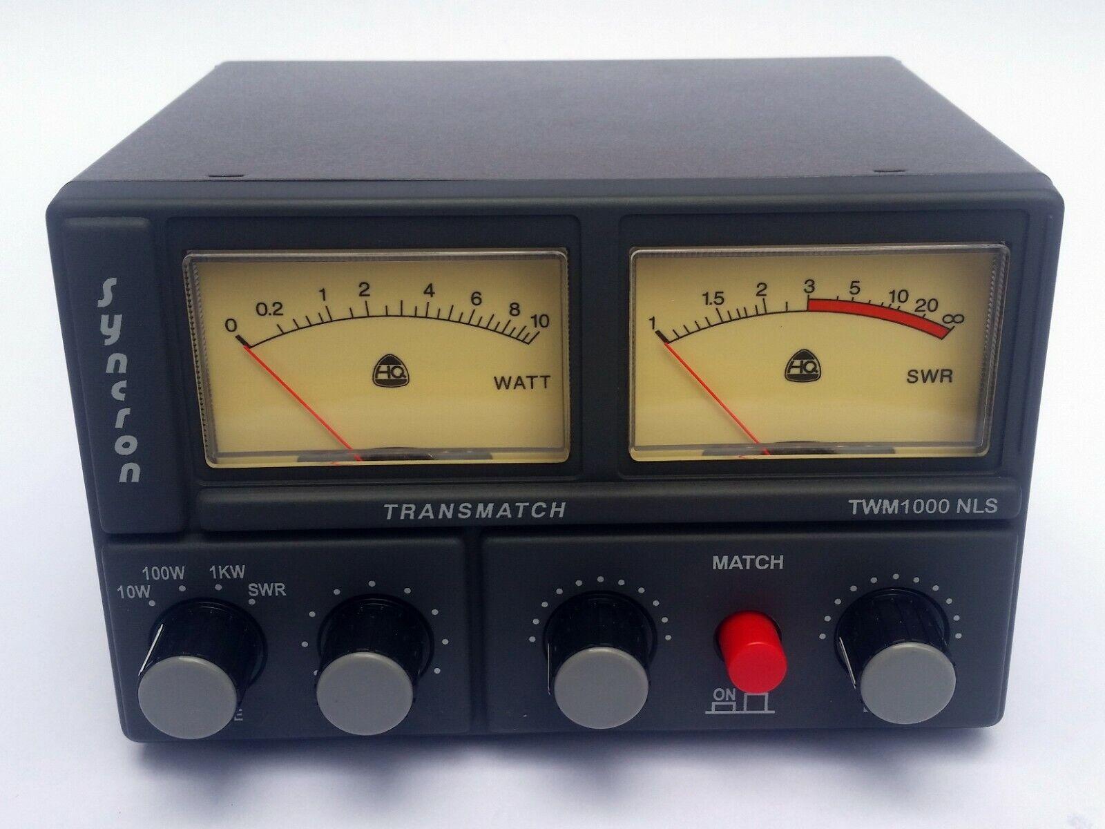 Syncron TWM1000NLS  SWR Power Meter Matcher 26-30 MHz Transm