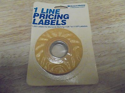 Monarch 1 Line Pricing Labels 925008 Yellow 1065 Label For 1105 1110 Labelers
