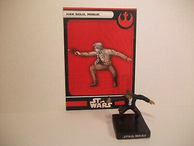 Star Wars Miniatures - Han Solo, Rogue 7/60 + Card - Rare - Alliance and Empire