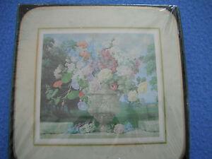 Clover Leaf Cloverleaf Coasters Flowers Unused in sealed pack