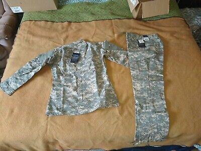 ACU Digital Camouflage Military BDU Fatigue Pants Jacket Set Small Long New