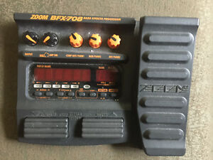 ZOOM BFX-708 bass/guitar Multieffect
