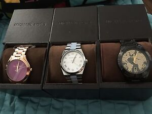 3 BNWT authentic MICHAEL KORS watches
