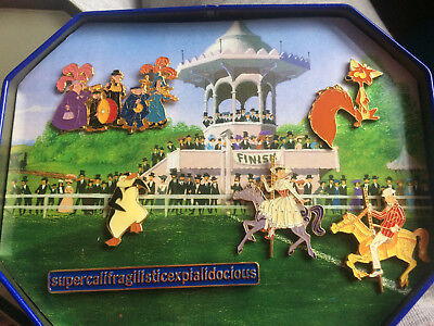 Disney DS Mary Poppins Commemorative Tin Pin Set 6 Pins