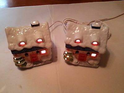 CHRISTMAS VILLAGE HOUSES SET OF 2