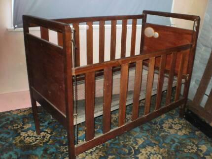 ASSORTED BABY ITEMS -- COT, PRAM, BASSINET, HIGH CHAIR, MONITOR